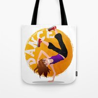 hip hop Tote Bags featuring Hip Hop by NanaO
