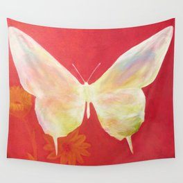 Pink Butterfly Wall Tapestry