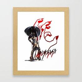 PAWS UP Gooey Framed Art Print