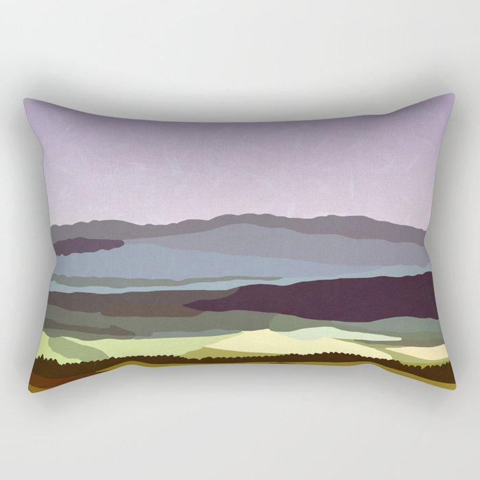 Sunset over the Valley Rectangular Pillow