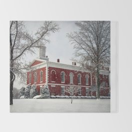 Side View of the Iron County Courthouse Throw Blanket