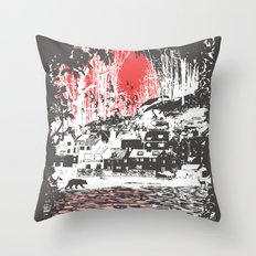 Cosmic Winter - Dark Throw Pillow