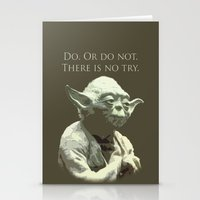 yoda Stationery Cards featuring Yoda by DisPrints