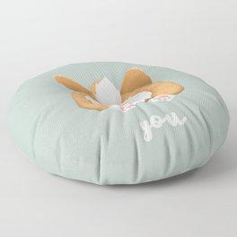 Somebunny loves you / Corgi Butt Floor Pillow