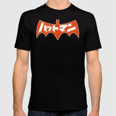 Japanese Red Bat Symbol SMALL Mens Fitted Tee Black