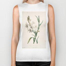 Tuberose Flower Botanical Print Biker Tank