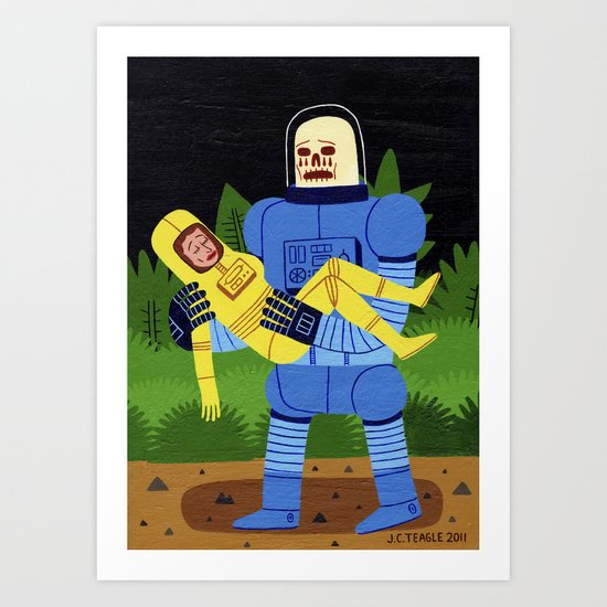 Loss in Space Art Print