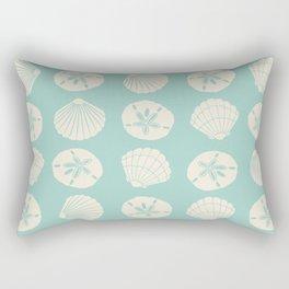 Sea Shells Light Green Rectangular Pillow