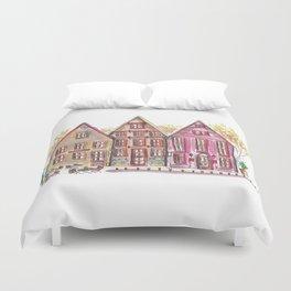 Coloured houses II Duvet Cover