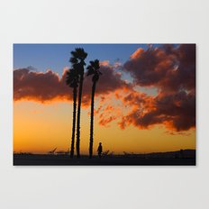 Three Trees, One Dude Canvas Print