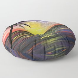 Sunset Sea Floor Pillow