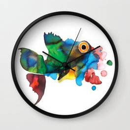 colorful fish Wall Clock
