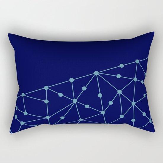 Blue abstract pattern . Mesh Rectangular Pillow