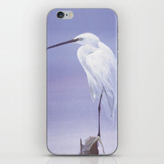 Purple Crane iPhone & iPod Skin