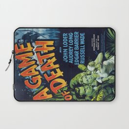 A Game of Death, vintage horror movie poster Laptop Sleeve