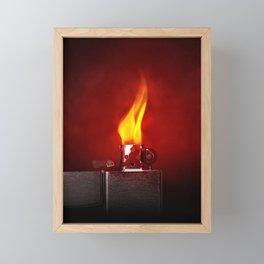 Vintage Fire Lighter - Minimalist Photography Framed Mini Art Print