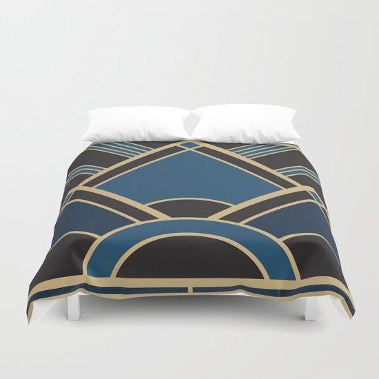 Art Deco New Tomorrow In Blue Duvet Cover