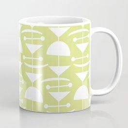Retro Mid Century Modern Abstract Mobile 731 Chartreuse Coffee Mug