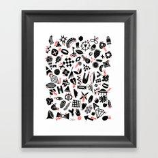 Black and white pattern Framed Art Print
