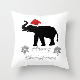 "Elephant ""Merry Christmas"" Throw Pillow"