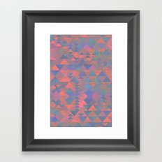 Delta Tribe - Pink Framed Art Print