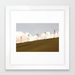 8 Turbines on the horizon Framed Art Print