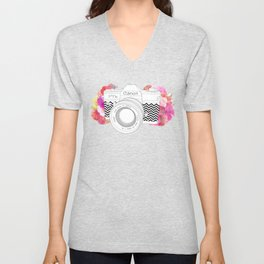 BLOOMING CAN0N Unisex V-Neck