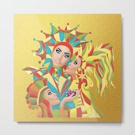 Shared Secrets in Multi-Colors Metal Print