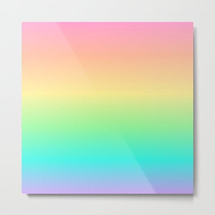 Pastel Rainbow 2 Metal Print