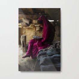 Nepalese Girl Metal Print