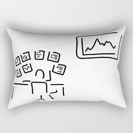 stock exchange stockbroker fund manager Rectangular Pillow