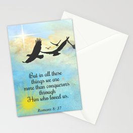 More Than Conquerors Stationery Cards
