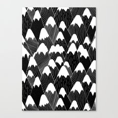 Snow Tops Pattern Canvas Print