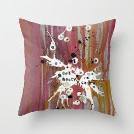 Get Nasty. No Shame Throw Pillow