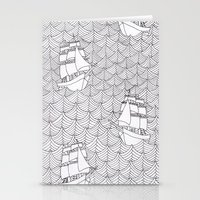 ships Stationery Cards featuring Ships by hellotomato