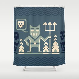 Skull collector Shower Curtain