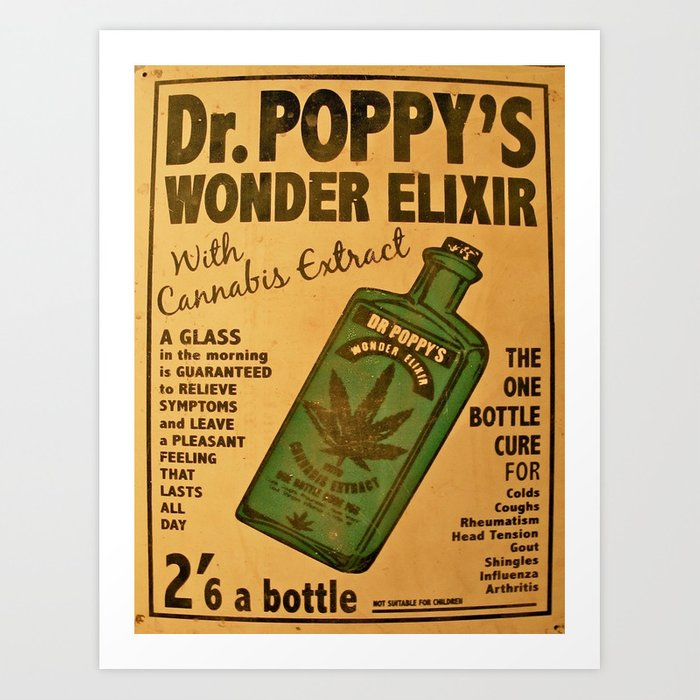 Vintage poster - Dr. Poppy's Wonder Elixir Art Print