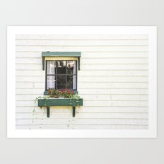 The Green Window Art Print