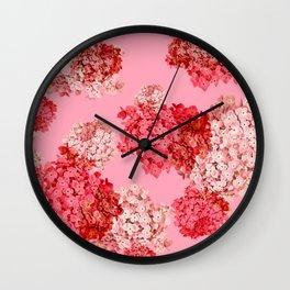 hydrangea (doubled) Wall Clock