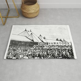 """""""The Starting Gate"""" Saratoga Springs Race Course Track Rug"""