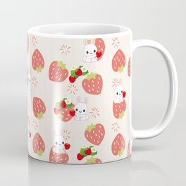 Bunnies and Strawberries Coffee Mug