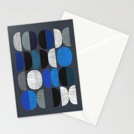 Mo Moons Blue Stationery Cards