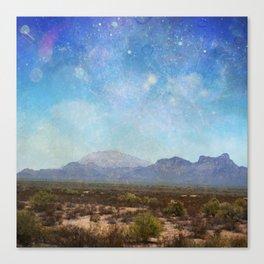 Mountains Sky Canvas Print