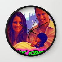 fresh prince Wall Clocks featuring The Fresh Prince by Matheus Lopes