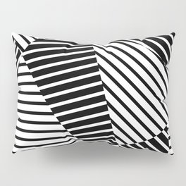 Abstract Striped Triangles Pillow Sham