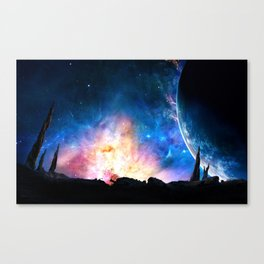 over the galaxy Canvas Print