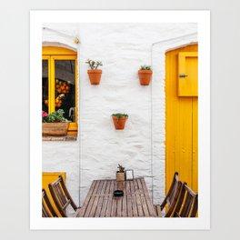 Yellow - Cadaques, Catalunya Art Print