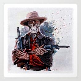 The Gunslinger - Dia De Los Muertos Art Print