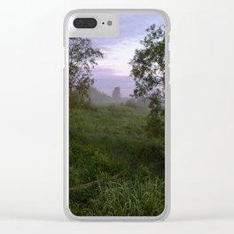 Dawn in a field Clear iPhone Case