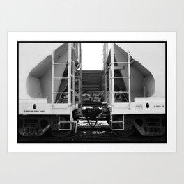 Train Symmetry Art Print